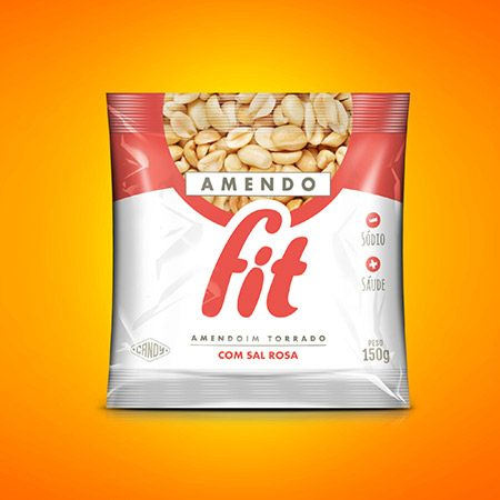 Amendoim torrado com sal rosa AmendoCandy150g 1